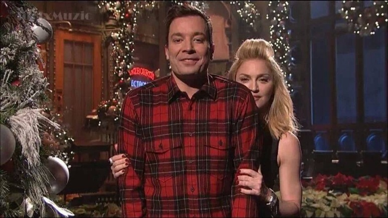 Madonna e Jimmy Fallon no Saturday Night Live 2013