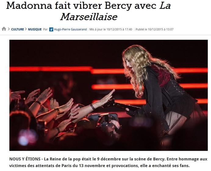 Madonna fait vibrer Bercy avec La Marseillaise-www lefigaro fr