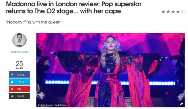 Madonna live in London review