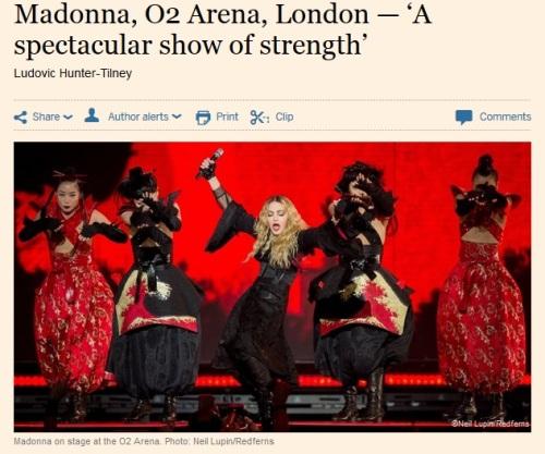 Madonna, O2 Arena, London